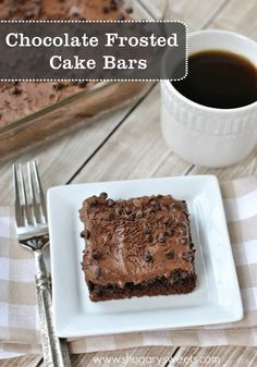 Starting with a cake mix, these Gooey Chocolate cake bars are filled with cream cheese, cocoa and topped with a delicious, creamy chocolate frosting.