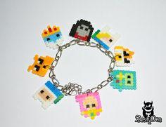 Adventure time perler hama beads sprite bracelet by ZestyDen, $15.00