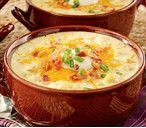 """Loaded """"Baked Potato"""" Soup In the microwave! From Walmart.com"""