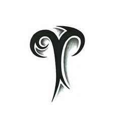 Widder Tierkreiszeichen Tattoo