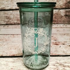 Personalized travel glass. $20