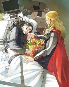 Breakfast || Thor & Loki || Cr: Inusahusan