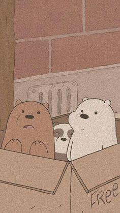 We bare bears Soft Wallpaper, Bear Wallpaper, Aesthetic Pastel Wallpaper, Kawaii Wallpaper, Wallpaper Quotes, We Bare Bears Wallpapers, Panda Wallpapers, Cute Cartoon Wallpapers, Cartoon Wallpaper Iphone