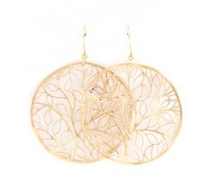 Laser Cut Eva Earrings in Gold on Emma Stine Limited