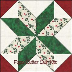 Scrappy Christmas Fabrics Easy Pre-Cut Star Quilt Blocks Top Kit