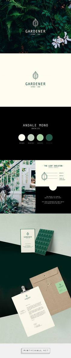 The Gardener Landscaping Company Branding by Lioness Graphic…