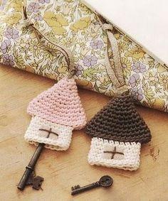 Key-hangers #crochet idea