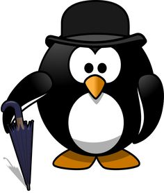 Gentleman penguin - An aristocratic-looking gentleman penguin, always ready to hold the umbrella for you :-)