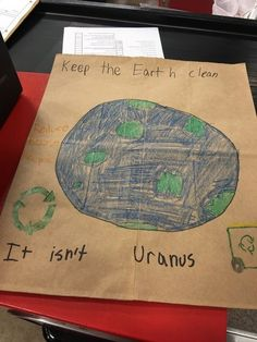 Elementary school decorated paper bags for Earth Day. This one was awesome. funny tumblr follow LOLFACTORY on tumblr [this funny picture via lolsnaps] #LOL #FUNNY #HUMOR #lolfactory