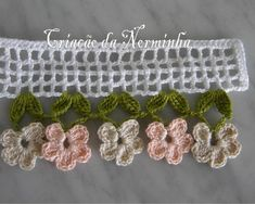 Leaves and flowers crochet trim  WORKSHOP OF BARRED
