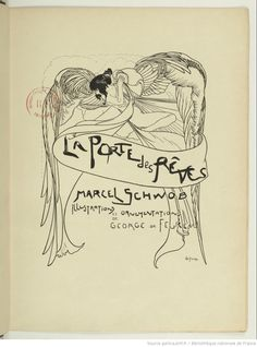 La Porte des rêves, par Marcel Schwob. Illustrations de Georges de Feure, 1899