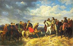 King Jan Sobieski salutes the Roman Emperor Leopold I-The Ottoman Empire had even been providing military assistance to dissident Hungarians and to anti-Catholic minorities in Habsburg-occupied portions of Hungary. There, in the years preceding the siege, widespread unrest had become open rebellion upon Leopold I's pursuit of Catholic Counter-Reformation principles.