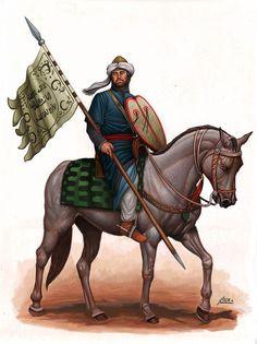 Cavalier du Maghreb Islamique lors de la conquête d'Espagne au 8 ° siècle