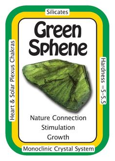 """Crystal Card of the Day: Green Sphene, """"I am connected to all of the flora and fauna of the Universe."""" Beautiful deep Green Sphene also known as Titanite and is more desirable than yellow or white. Chakra Crystals, Crystals And Gemstones, Stones And Crystals, Healing Crystals, Gem Stones, Natural Gemstones, Crystal Guide, Crystal Magic, Crystal System"""