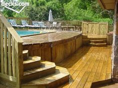 Backyard ideas, from inexpensive to really exciting yard plan to study today, yard pin id 6139841364 Above Ground Pool Landscaping, Above Ground Pool Decks, In Ground Pools, Deck Fire Pit, Tiered Deck, Swimming Pool Decks, Cool Deck, Dream Pools, Cool Pools