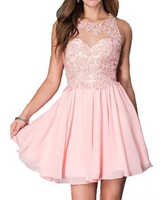 fe00a2ac6b Remedios ALine Chiffon Bridesmaid Dresses Short Party Gown for Prom  Homcoming136 CoralUS6   Click image to review more details. (This is an  affiliate link)