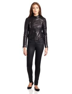 cc974127cf2d BCBGeneration Women s Lyla Leather Moto Jacket