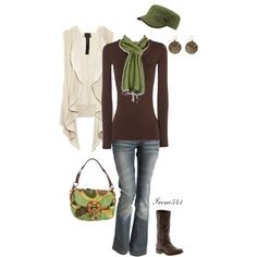 Greens and browns by irene541 on Polyvore featuring Jane Norman, Poleci, Frye, Jamin Puech, Puma and Miso