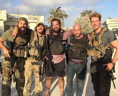 Some of the real life operators who were featured in and helped make the movie, 13 Hours in Benghazi.