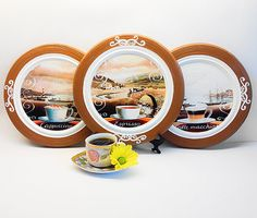 Cowboys decor western plates set western decor by PaperPlateArt | All together (decoupage prints vintage) | Pinterest | Western decor Westerns and Room ... : coffee plates decor - pezcame.com