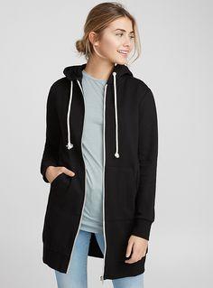 Long zip hoodie | Twik | Women's Sweatshirts & Hoodies: Shop Online in Canada | Simons Long Hoodie, Zip Hoodie, Sweatshirts, Hoodies, Juicy Couture, Hooded Jacket, Joggers, Canada, Clothes For Women