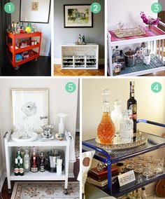 10 Inspiring Bar Cart Makeover Projects