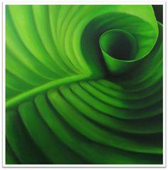 Groen blad, 2014, 60 x 60 cm