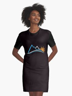 1c7e0c8bf6  Mountains and Sun Life are  T-Shirt by Friendesigns V Neck T Shirt