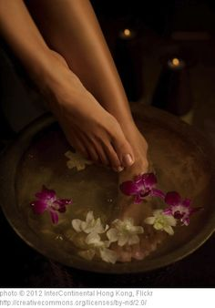 """foot soak with Listerine 