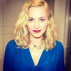 """""""Blue is the Warmest Color!  The Look Of Love MDNA SKIN"""" -Madonna"""
