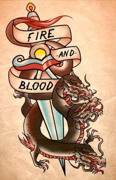 Game Of Thrones Tattoos Targaryen Old School Tattoo Designs Traditional