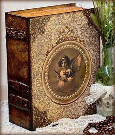 """Купить Шкатулка-книга """"Ангел"""". Большая. - шкатулка-книга, шкатулка для украшений, винтажная шкатулка"""