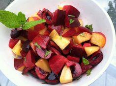 Mojito Stone Fruit Salad...perfect dish to share at a summer picnic or bbq!