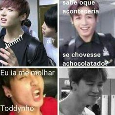 MDS kkkk... Bts Memes, Bts Meme Faces, Funny Memes, Jikook, Seokjin, Namjoon, Hoseok, Taehyung, Bts Bangtan Boy