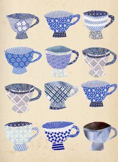 tea cup collage via ragtales Mixed Media Collage, Mixed Media Canvas, Collage Art, Paper Art, Paper Crafts, Paper Collages, Security Envelopes, Envelope Art, Encaustic Art