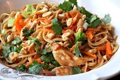 The Kitchen Whisperer Thai Noodles with Chicken in a Spicy Peanut Sauce
