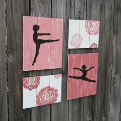 ballerina wall art ballet dance roses Instead of roses, stars or hearts. Ballet Room, Ballet Decor, Ballerina Room, Dance Bedroom, Dance Rooms, Bedroom 2018, Art Wall Kids, Art For Kids, Wall Art
