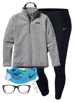 """""""braces tomorrow comment color ideas"""" by southern-prep-gals ❤ liked on Polyvore featuring Aerie, NIKE, Patagonia, Ray-Ban and Miadora"""