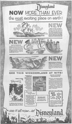 Disneyland June 1958 - Disney was a rockin' place! Retro Disney, Old Disney, Disney Love, Disney Magic, Disney Stuff, Modern Disney, Disney Nerd, Disney Fanatic, Vintage Disneyland