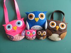 Little Girls Owl Purse Pattern Felt Purse Tutorial by SewYouCanToo, $5.00