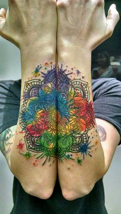Looooove this idea but on the other side of arms do a lotus flower mandala with earth and jewel tones suggesting with open hands and an open lotus heart :) Remember to save room for Kratos snake