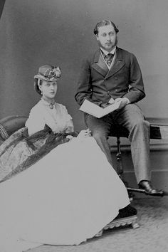 "teatimeatwinterpalace: """"The Prince and Princess of Wales, 1865. "" """