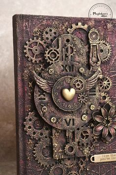 vintage – Page 15 – magdalena's attic Mixed Media Boxes, Mixed Media Canvas, Mixed Media Art, Mix Media, Steampunk Book, Steampunk Crafts, Finnabair Mixed Media, Mixed Media Tutorials, Scrap Metal Art