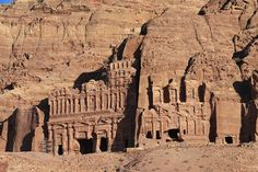 Another view of the many facades of Petra - this was an entire city carved in stone, not just the one entrance featured in the Indiana Jones movie.