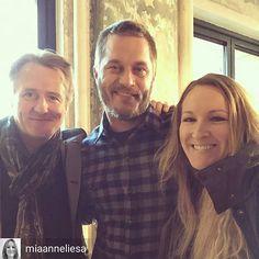@Regrann from @miaanneliesa -  At the BUILD series with these two Vikings today! #travisfimmel #vikings #ragnar #kingecbert #linusroache #historyvikings #aolbuild - #regrann