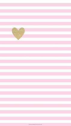 Free Little Gold Heart Take 2 iPhone Wallpaper