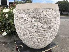 Pebble Planter Concrete Cement Balinese Stack Stone Garden Pot  #shippingfrombali Garden Stones, Garden Pots, Concrete Cement, Pebble Stone, Outdoor Living, Outdoor Decor, Balinese, Planters, Home Decor