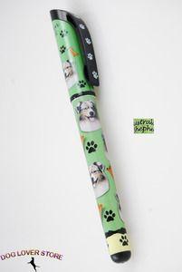 Australian Shepherd Dog Gel Replaceable Writing Pen Ballpoint Black Ink at www.DogLoverStore.com