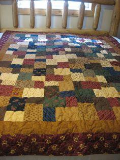 Patchwork Prairie Quilt by MountainQuilts on Etsy, $175.00