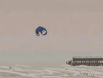 Danny Mooney 'Kite surfing, 26/3/2015' iPad painting #APAD